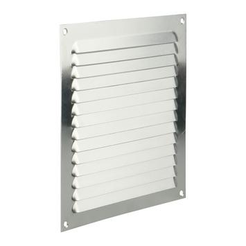 Renson ventilatierooster opbouw aluminium zilver 200x200 mm