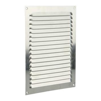 Renson ventilatierooster opbouw aluminium zilver 200x250 mm