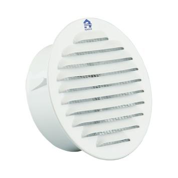 Renson ventilatierooster inbouw rond aluminium wit BEL 9010 ø100 mm