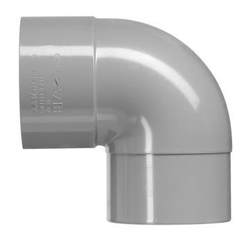 Martens bocht 90° PVC grijs 1x lijmverbinding 75x75 mm