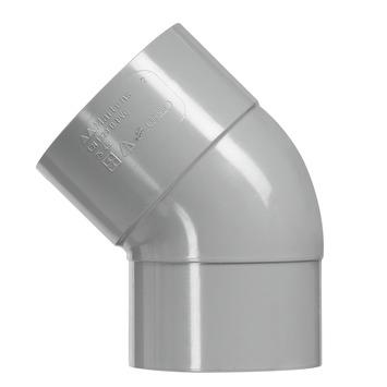 Martens bocht 45° grijs 1x lijmverbinding 32 mm