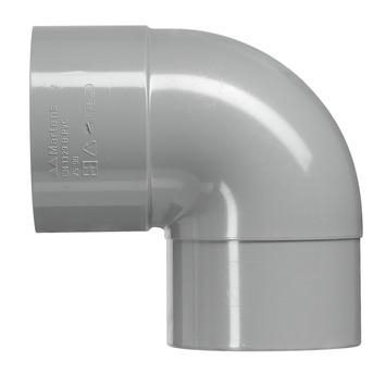 Martens bocht 90° PVC grijs 1x lijmverbinding 32x32 mm
