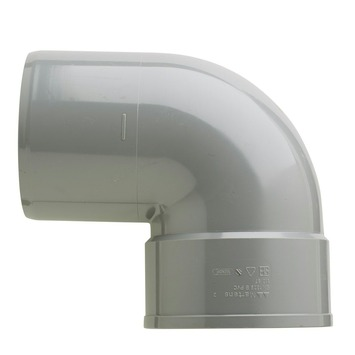 Martens bocht 90° PVC grijs 1x lijmverbinding 125x125 mm