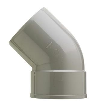 Martens bocht 45° PVC grijs 1x lijmverbinding 125x125 mm