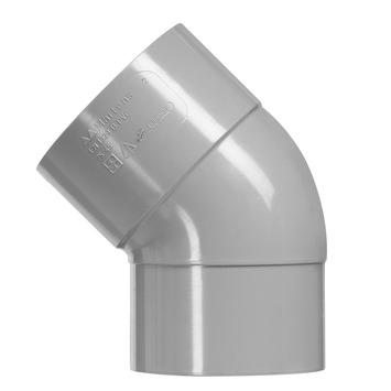 Martens bocht 45° PVC grijs 1x lijmverbinding 75x75 mm