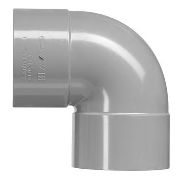 Martens bocht 90° PVC grijs 2x lijmverbinding 125x125 mm