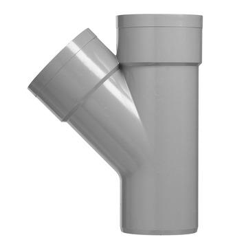 Martens T-stuk 45° PVC grijs 2x lijmverbinding 32x32x32 mm