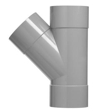 Martens T-stuk 45° PVC grijs 3x lijmverbinding 75x75x75 mm