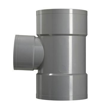 Martens T-stuk PVC grijs 3x lijmverbinding 110x75x110 mm