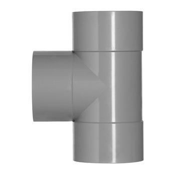 Martens T-stuk PVC grijs 3x lijmverbinding 110x110x110 mm