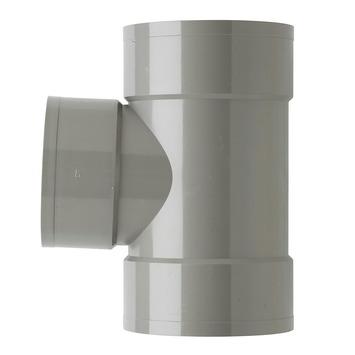 Martens T-stuk PVC grijs 3x lijmverbinding 125x110x125 mm