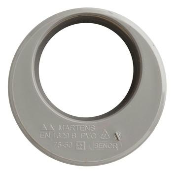 Martens verloopstuk PVC grijs 1x lijmverbinding 50x75 mm