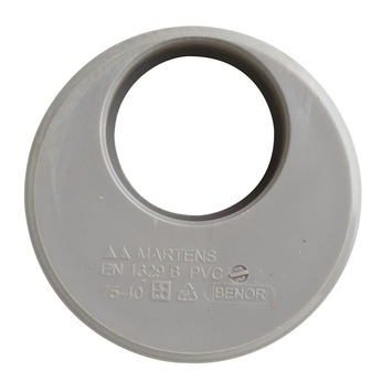 Martens verloopstuk PVC grijs 1x lijmverbinding 75x40 mm