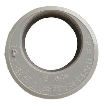 Martens verloopstuk PVC grijs 1x lijmverbinding 32x50 mm