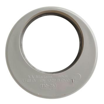 Martens verloopstuk PVC grijs 1x lijmverbinding 110x75 mm