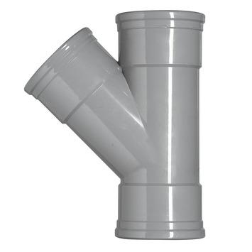 Martens T-stuk 45° PVC grijs 3 schuifmof 125x125x125 mm