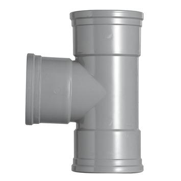 Martens T-stuk PVC grijs 3x lijmverbinding 125 mm