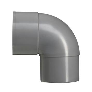 Martens bocht 90° PVC grijs mof/verjongd 100 mm