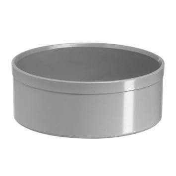 Martens eindkap PVC grijs 125 mm