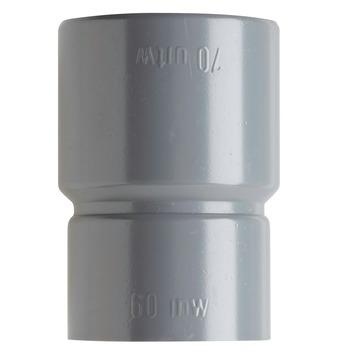 Martens verloopstuk PVC grijs 1x lijmverbinding 70x60 mm
