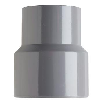Martens verloopstuk PVC grijs 1x lijmverbinding 60x80 mm