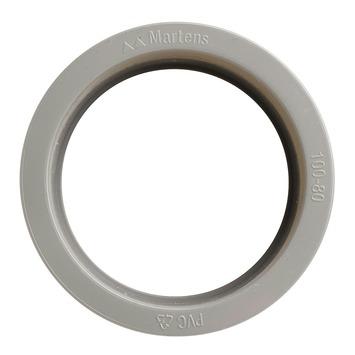 Martens verloopstuk PVC grijs 1x lijmverbinding 80x100 mm