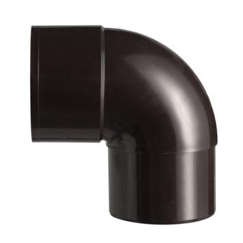 Martens bocht 90° PVC bruin mof/verjongd 80 mm