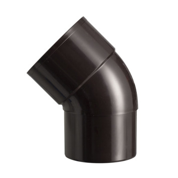 Martens bocht 45° PVC bruin verjongd 80x80 mm