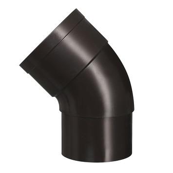 Martens bocht 45° PVC bruin mof/verjongd 60 mm