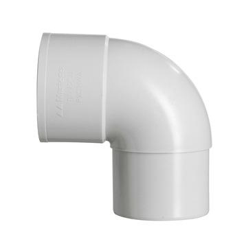 Martens bocht 90° PVC parelgrijs mof/verjongd 70x70 mm