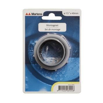"""Martens sifon montageset PVC grijs 6/4"""" x 40 mm"""