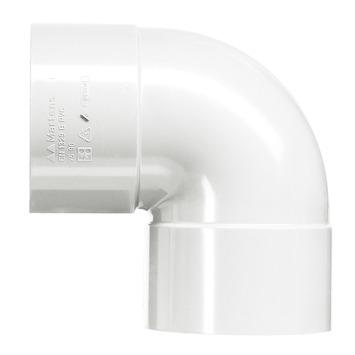 Martens bocht 90° wit 2x lijmverbinding 32 mm