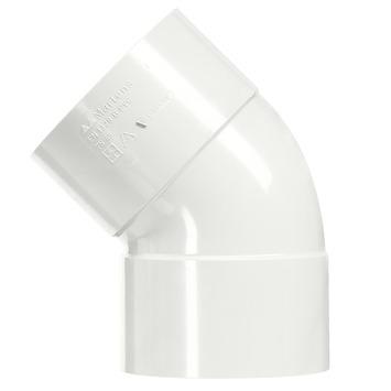 Martens bocht 45° PVC wit 2x lijmverbinding 50x50 mm