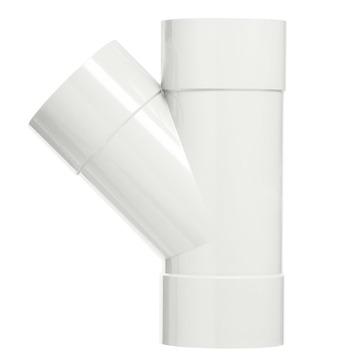 Martens T-stuk 45° PVC wit 3x lijmverbinding 32x32x32 mm