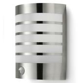 GAMMA Buitenlamp Prescot RVS met bewegingssensor E27 15W