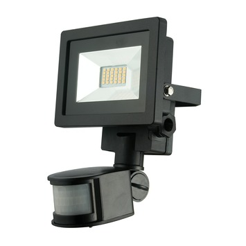GAMMA Breedstraler met bewegingssensor zwart LED 20W
