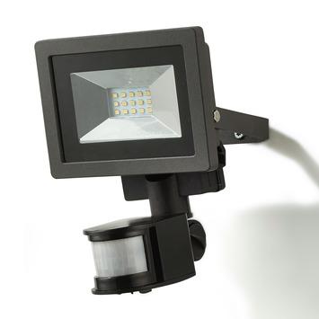 Buitenlamp Met Sensor Gamma.Gamma Breedstraler Met Bewegingssensor Zwart Led 10w