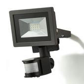 GAMMA Breedstraler met bewegingssensor zwart LED 10W