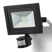 GAMMA Breedstraler met bewegingssensor zwart LED 30W