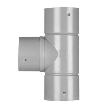 Martens T-stuk PVC grijs t.b.v. drainagebuis 80x80x80 mm