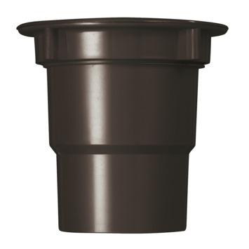 Martens uitloop incl. wartel t.b.v. bakgoot bruin 125 mm
