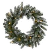 Kerstkrans Glasgow met verlichting op batterij 60 cm