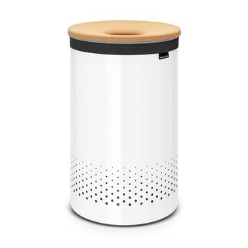 Brabantia Wasmand Wit met Kunststof Deksel 60 Liter