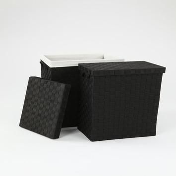 Vepa Bins wasmandenset zwart 2 stuks