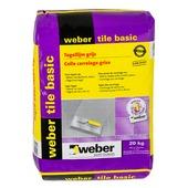 Weber tegellijm tegel op tegel grijs 20 kg
