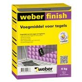 Weber Wand & Vloer voegmiddel antraciet 4 kg