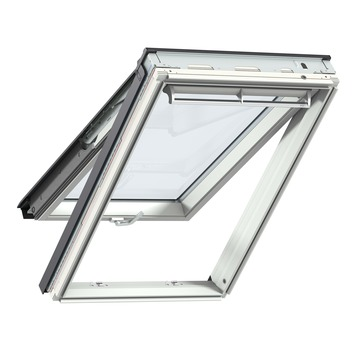 Velux uitzettuimelvenster HR++ veiligheidsglas wit afgelakt SK06 114x118 cm