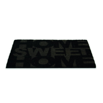 Schraapmat kokos 45x75 cm zwart/grijs