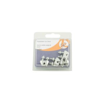 Draadklem verzinkt 3 mm 4 stuks