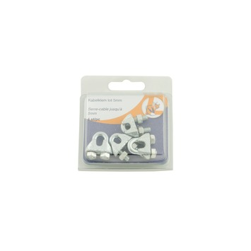 Draadklem verzinkt 5 mm 4 stuks